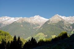 Overlooking a mountain range from the Dolomites, Ahrntal, Trentino-Alto Adige, Italy Royalty Free Stock Photos
