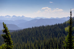 Overlooking Mountains in Distance stock images