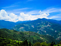 Overlooking at Mountains Landscape, Taiwan Royalty Free Stock Photos