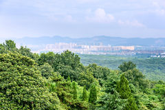 Overlooking the nanjing city royalty free stock photography