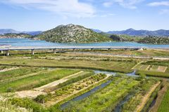 Overlooking the Neretva River Delta in Croatia Royalty Free Stock Image