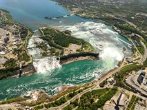 Overlooking Niagara Falls royalty free stock images