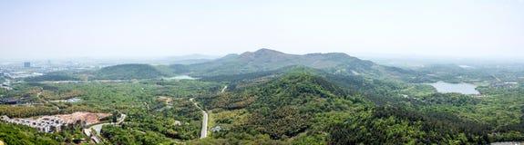 Overlooking Niushou (Cattle head) mountain Royalty Free Stock Photos