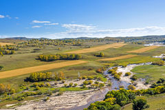 overlooking Nuanhe River autumn scenery Stock Photography
