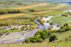 overlooking Nuanhe River autumn scenery Royalty Free Stock Images