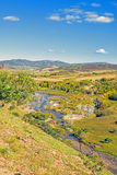 overlooking Nuanhe River autumn scenery royalty free stock photography