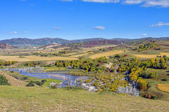 overlooking Nuanhe River autumn scenery Stock Images