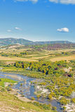 overlooking Nuanhe River autumn scenery Royalty Free Stock Image