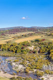 overlooking Nuanhe River autumn scenery Royalty Free Stock Photos