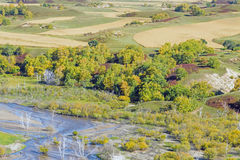 overlooking Nuanhe River autumn scenery Stock Image