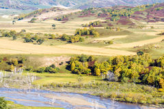overlooking Nuanhe River autumn scenery Royalty Free Stock Photo