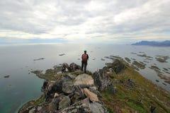 Overlooking the ocean - Norway stock image