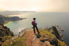 Overlooking the ocean - Norway Stock Image