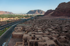 Overlooking the old city of Al Ula, Saudi Arabia Stock Image