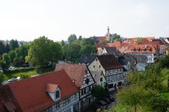 Overlooking the old town of Bad Wimpfen Royalty Free Stock Images