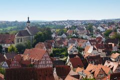 Overlooking the old town of bad wimpfen Stock Photo