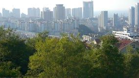 Overlooking panoramic urban. stock footage