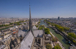 Overlooking Paris Royalty Free Stock Photography