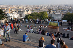 Overlooking the Paris Skyline Royalty Free Stock Image