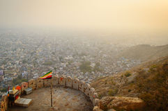 Overlooking the pink city of Jaipur from Nahargarh Fort Stock Photography