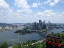 Overlooking Pittsburg stock photo