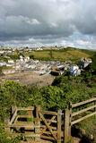 Overlooking Port Isaac Stock Photography