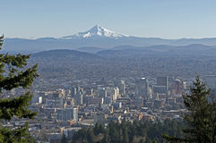 Overlooking Portland Oregon Royalty Free Stock Photography