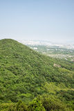Overlooking the Pukou area at the top of Miaogao peak Stock Image