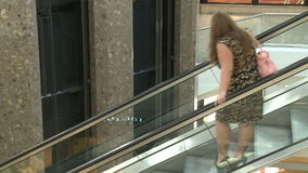 Overlooking railing at elevators and escalators within mall (3 of 3). A view or scene of Shopping stock video