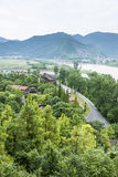 Overlooking Red lantern Rural homes Royalty Free Stock Photos