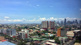 Overlooking Rizal Province and BGC Royalty Free Stock Image