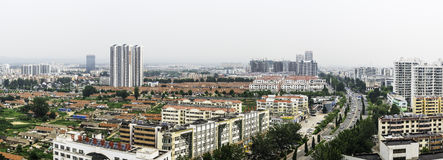Overlooking the Rizhao city royalty free stock photos