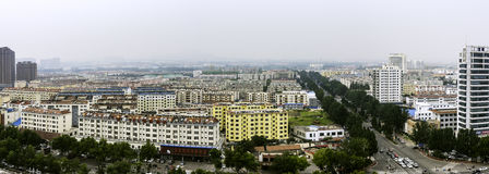 Overlooking the Rizhao city stock image