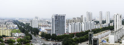 Overlooking the Rizhao city royalty free stock photography