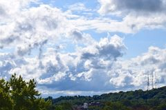 Overlooking Rochester NY'S City Skyline. Scenic  Rochester  NewYork  Sky  View  Clouds  Skyline  CityLimits Landscapes Stock Photos