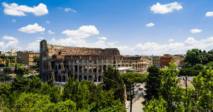 Overlooking Rome Colosseum Royalty Free Stock Photo