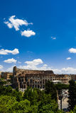 Overlooking of Rome Colosseum Royalty Free Stock Photo