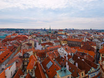 Overlooking the rooftops of Prague Royalty Free Stock Photos