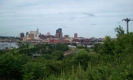 Overlooking Saint Paul Minnesota Stock Image