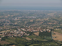 Overlooking OF SAN MARINO REPUBLIC Stock Images