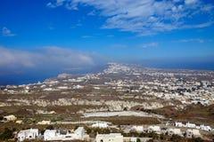 Overlooking Santorini island Royalty Free Stock Photos