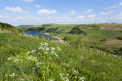 Overlooking Scammonden Dam in the rugged rural Yorkshire Moorlan Royalty Free Stock Images