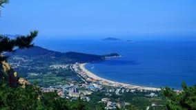Overlooking seas from Laoshan Mountain. Shandong province ,China Stock Photos