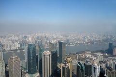 Overlooking Shanghai Lujiazui Stock Photo