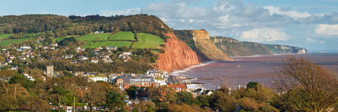Overlooking Sidmouth Devon England Royalty Free Stock Images