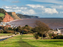 Overlooking Sidmouth Devon England Stock Images