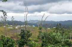 Overlooking Small Village Near Cerro Punta royalty free stock images