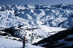 Overlooking Sun Valley, Idaho stock images