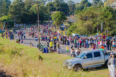 Supporting Crowds Comrades Marathon Royalty Free Stock Photo