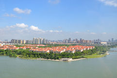 Overlooking the Suzhou New District Royalty Free Stock Image